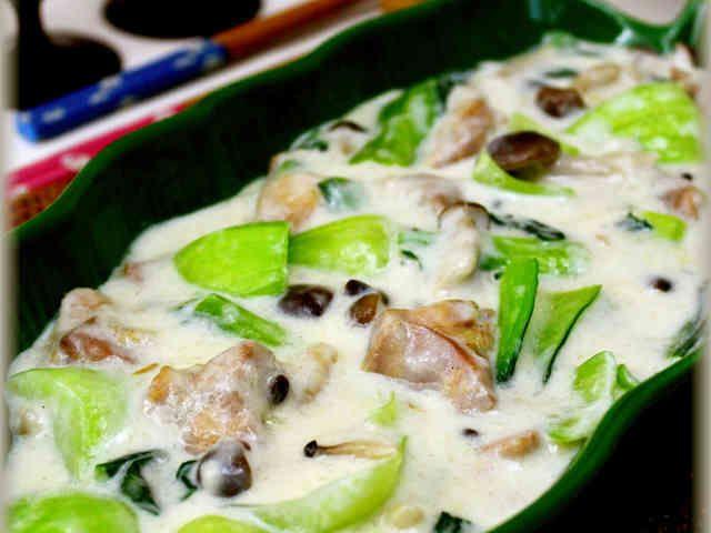 鶏肉とチンゲン菜のクリーム煮の画像