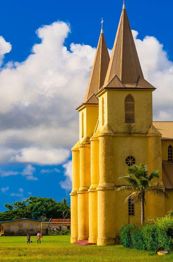 St. Pierre Baptist Church, Hnathalo, Lifou (island), Loyalty Islands, New Caledonia, uncredited
