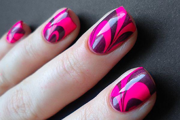 Pink marble: Nailart, Nails Design, Pink Nails, Nailsart, Nailpolish, Naildesign, Nails Polish Design, Nails Art Design, Water Marbles Nails