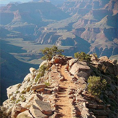 South Kaibab Trail, Grand Canyon National Park, AZ - Best Hiking Trails in the West - Sunset