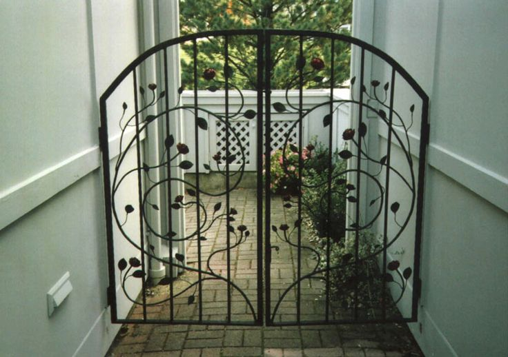 Wrought iron decorative gate