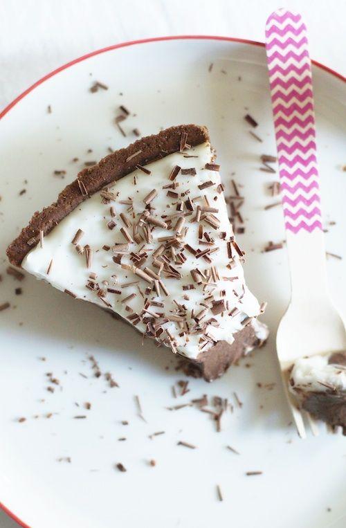 Chocolate + Haupia (Hawaiian Coconut Pudding) Tart   Set the Table
