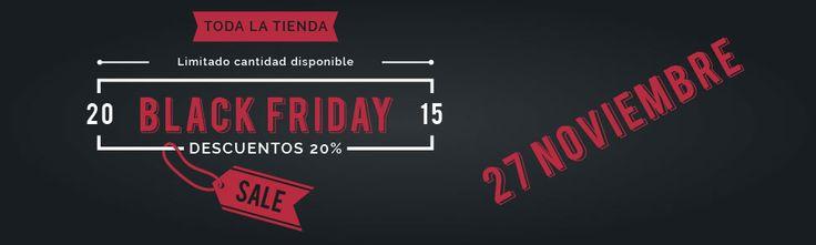 El Black Friday 2015 será un día para señalar en tu calendario. Y nosotros lo vamos a celebrar con vosotros ofreciendoos rebajas y descuentos únicos.   De momento podemos confirmar que todos tendréis un 20% de descuento en toda nuestra tienda (online y física).