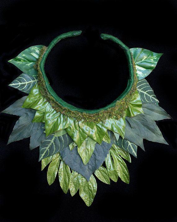 Forest Fairy Leaf Collar Woodland Fairy Costume by LilyMairi