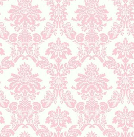 Wallpaper Designer Light Pink Damask on Off White | Pink ...