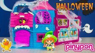 PINYPON Casa de los PINYMONSTERS * PINYPON en HALLOWEEN  * JUEGA CON EL PATO * Juguetes, Play-Doh, Huevos Kinder Sorpresa - YouTube
