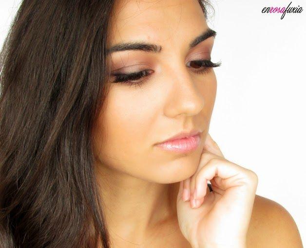 rosa & marron - natural (Maquillaje con Iconic 3 de Makeup Revolution (clon de Naked 3) de en rosa fuxia)