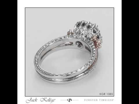 KGR 1085 – 18k White Gold and Rose Gold Engagement Ring | Jack Kelége Designer Diamond Engagement Rings, Unique Engagement Rings, Wedding Bands, Colored Diamonds and Fine Jewelry