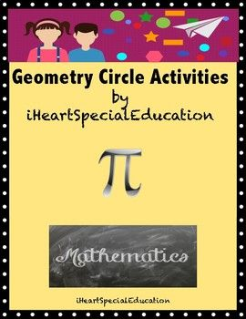 These hands-on activities cover recognizing, tracing, and labeling parts of a circle (including circle, Pi, circumference, chord, diameter, and radius.) Created for use in a special education classroom, particularly for students with Intellectual Disabilities and Autism, however they are appropriate for the general education classroom, as well.