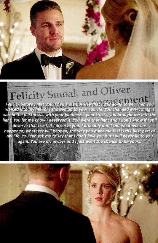 #Arrow - Oliver & Felicity #Olicity #4x16 <3 :(