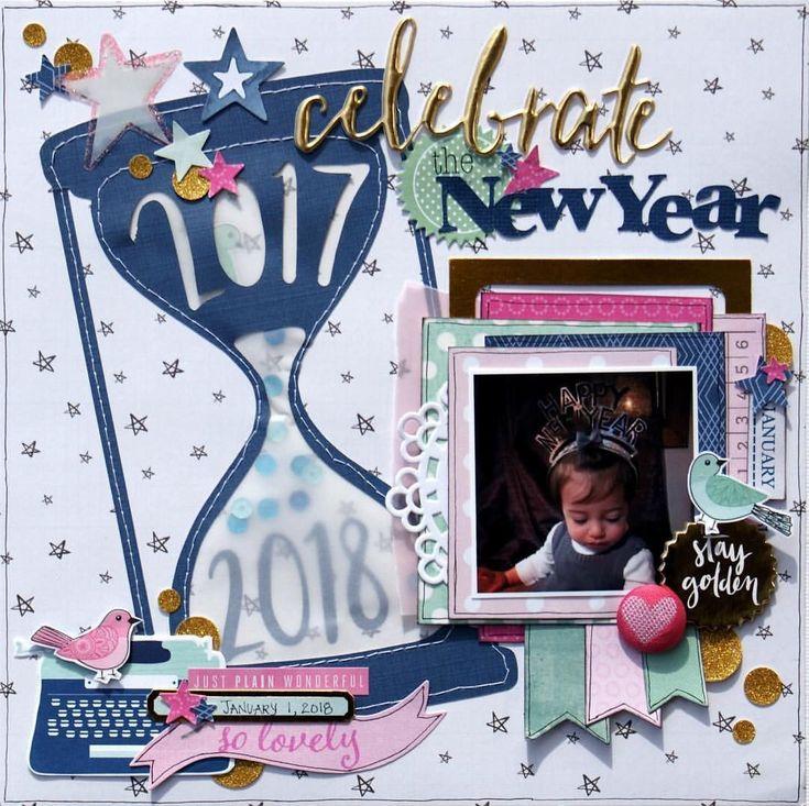 New year's layout idea #scrapbooking101