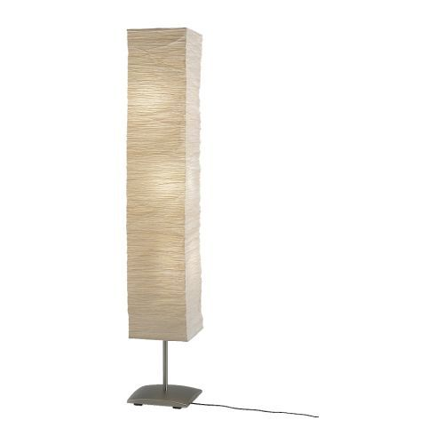 ikea orgel vreten floor lamp natural steel shade of handmade paper each shade is. Black Bedroom Furniture Sets. Home Design Ideas