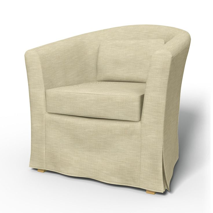 Tullsta, Armchair Covers, Armchair, Regular Fit using the fabric Tegnér Melange Sand Beige