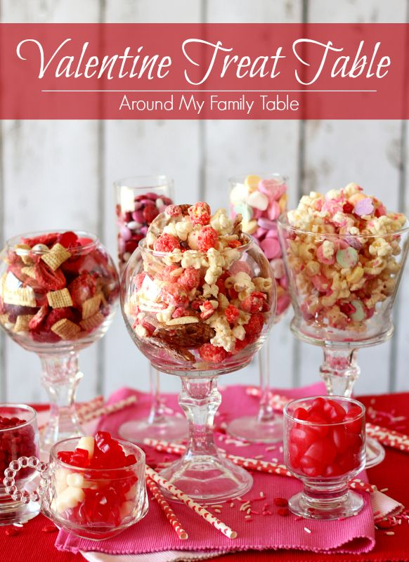 My valentine 39 s treat table is filled with fun kid for Kid friendly valentine recipes