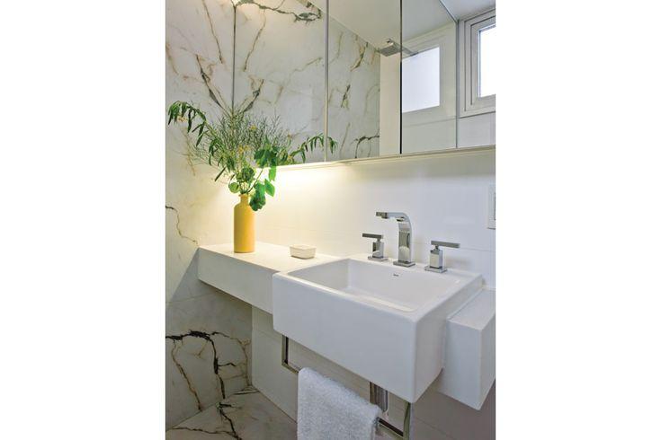 Bachas Para Baño Deca Piazza:de mármol blanco 'Thasos', bacha de semiencastre de Deca Piazza