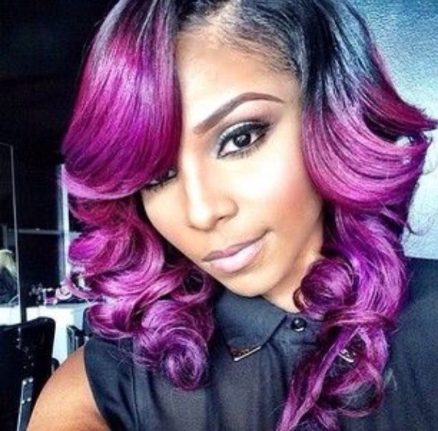 Super 1000 Images About Colored Weave Hair Styles On Pinterest Short Hairstyles Gunalazisus