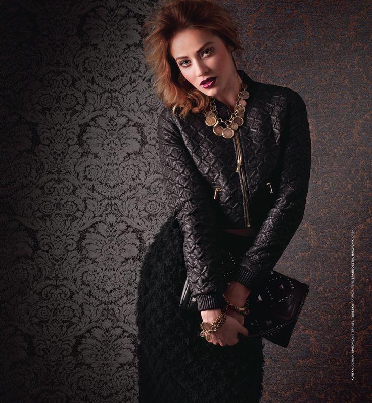 The fabric used in the photo shoot background is Dekoma JENIFER. Photoshoot in Stary Browar Poznan. Photos: Agnieszka Szenrok Model: Magda Swiat