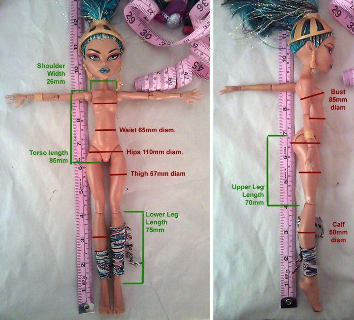 Measurements - Monster High Dolls .com