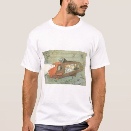 Vintage Science Fiction Steampunk Submarine in Sea T-Shirt - click/tap to personalize and buy