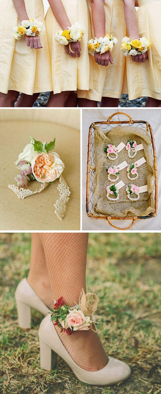 Los ramilletes con flores naturales son un detalle hermoso para tus damas de honor. #Boda #Wedding #Ideas