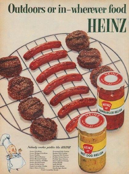 Heinz hamburger en hotdog saus