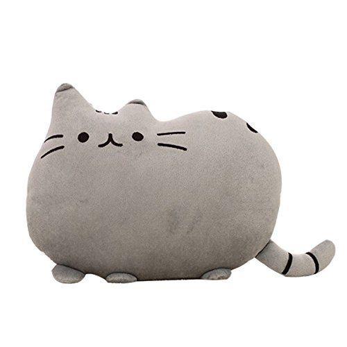 Big Cat Shaped Throw Pillow Pet Sofa Decorative Cushion Soft Plush Toy Doll 15 inch Cute ...