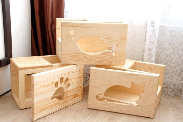 cat boxes wooden boxes small fish leg cat