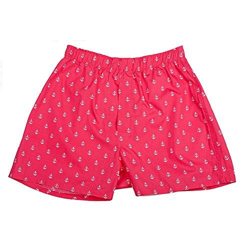 SummerTies Mens Anchor Boxers - Red, Medium SummerTies ...amazon.com