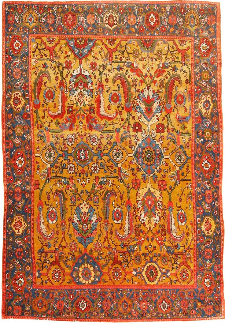 Antique Senneh Rug from Northwest Iran, late nineteenth century. A stunning Herati pattern spreads in all its complexity across the field of this lavish antique Senneh.