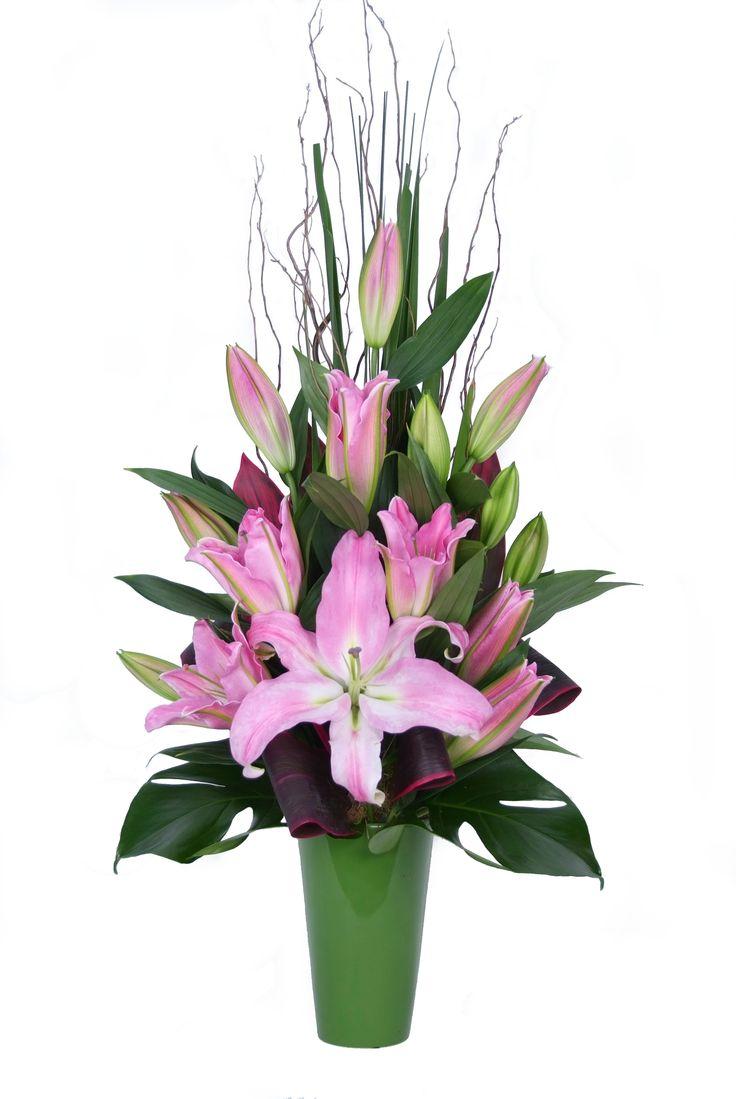 Oriental lily arrangement - Donvale Flower Gallery