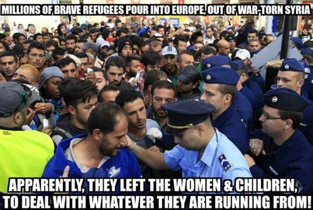 In every picture of refugees I see, the number of men greatly outnumber the number of women & children.