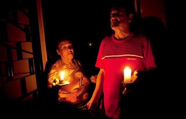 Apagón dejó al Zulia a oscuras en plena Navidad