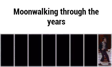 Moonwalking through the years GIF