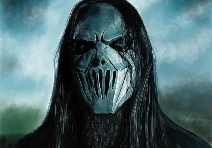 Art, carolina camino, mick thompson, slipknot, man, mask