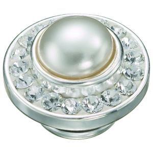 KJP500 - Snow Queen JewelPop | Kameleon Jewellery - Canada. Delicate Clear Swarovski Crystals surrounding an Elegant White Swarovski Pearl.