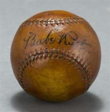 BABE RUTH AUTOGRAPHED BASEBALL Signed in blue-black ink