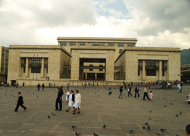 Palacio de Justicia Plaza de Bolivar Bogotá, Colombia  --- Supreme Court of Colombia Bolivar Square Bogota, Colombia Houses of the Congress of Colombia  ---- The Palace of Justice siege was a 1985 attack against the Supreme Court of Colombia, in whic