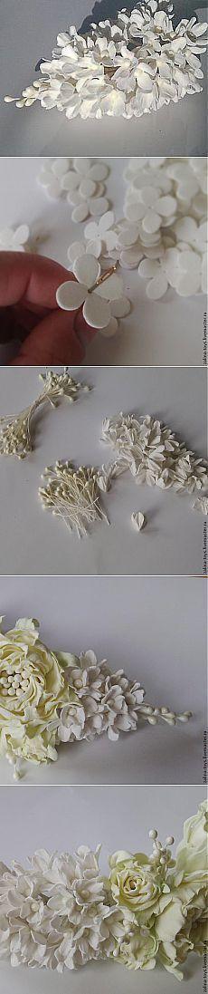 Мастер-класс: Сирень из фоамирана - Ярмарка Мастеров - ручная работа, handmade