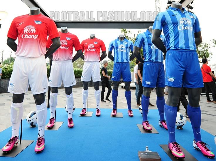 Chonburi FC 2013 Nike Home and Away Kits