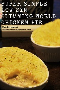 Super Simple Low Syn Chicken Pie - Slimming World - Low Syn - Basement Bakehouse - Recipe