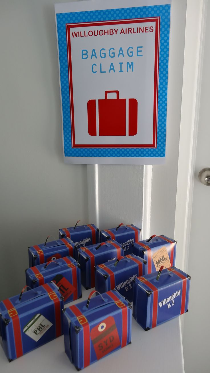 Plane party suitcase favour - Baggage claim