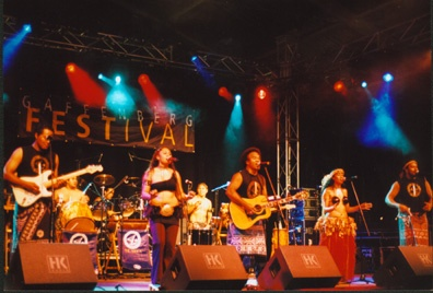 """The band performs """"Pate Pate"""" at the Gaffenburg festival in Heilbronn Germany"""