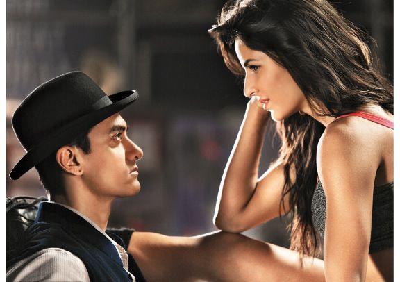 Aamir khan and katrina kaif Dhoom 3 still