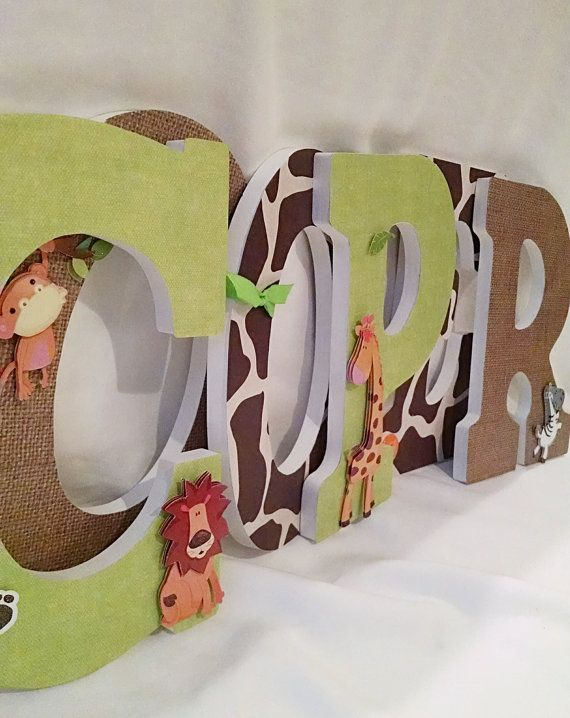 Letters for nursery boy wooden letters for by JessCreativeCorner