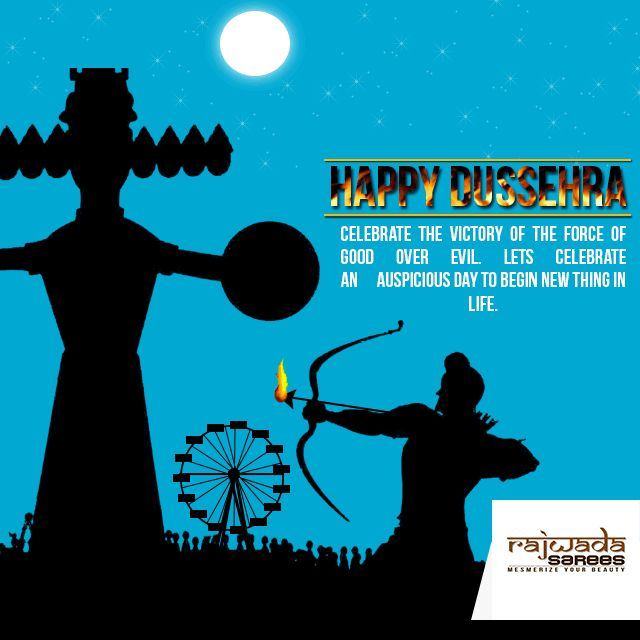 Dusshera is festival of victory on bad elements in our lives.