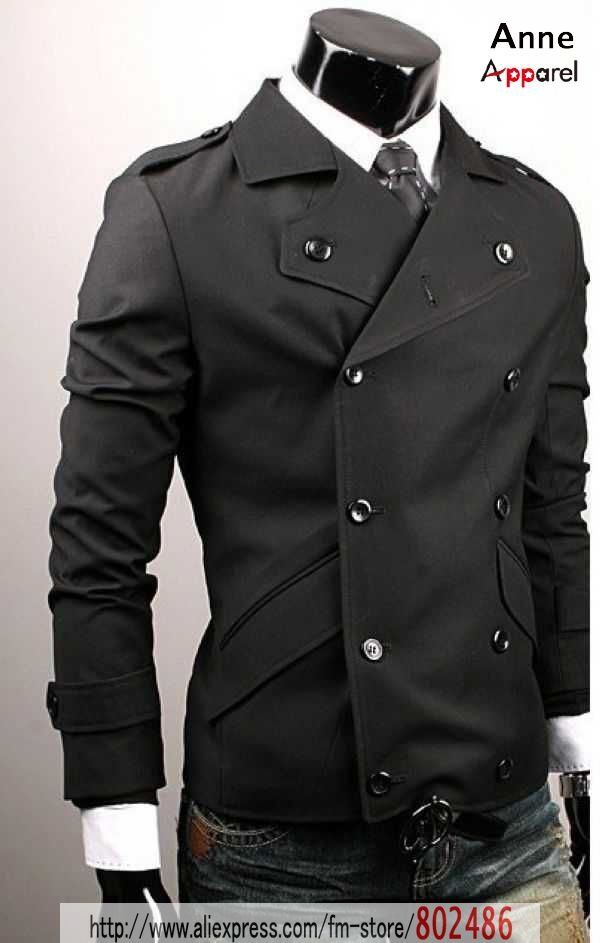 Double-breasted Casual jacket / coat Men's Slim suit at Aliexpress.com
