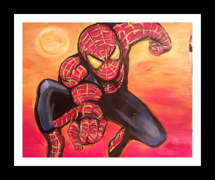 Spiderman - Original Painting by Cyn8a on Etsy