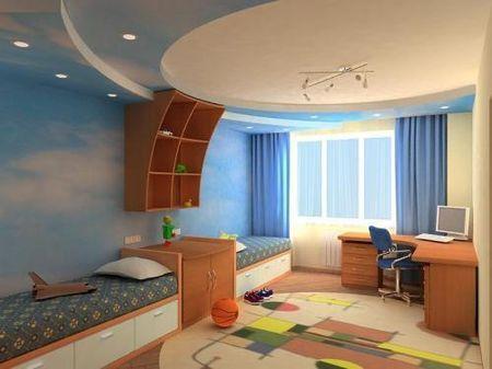 Дизайн стены кухни Дизайн детской двух детей