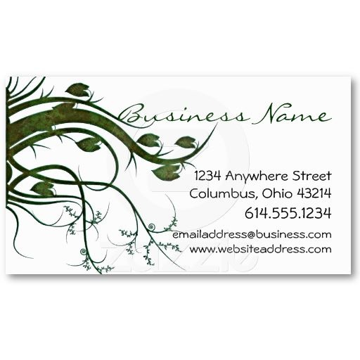 31 best business cards celtic irish images on pinterest business green ivy nature business cards reheart Image collections