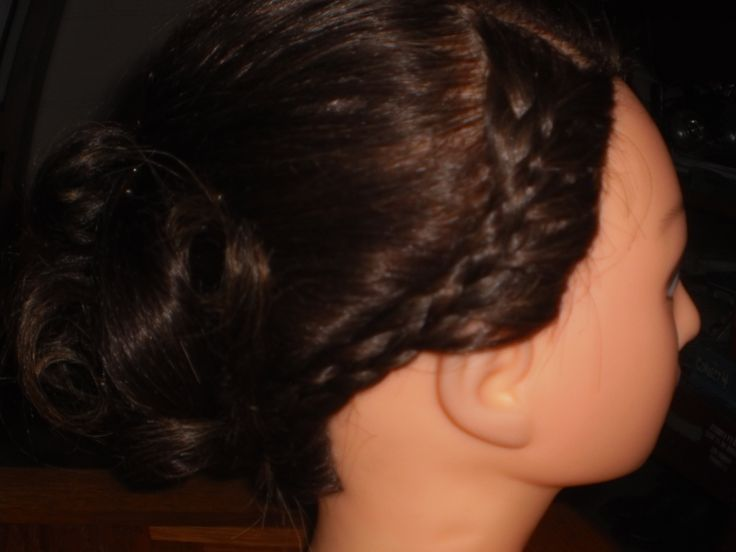 Updo right side view